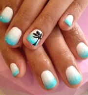 blue tropical nail - art