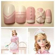 waitress barbie doll nail