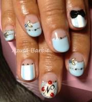 baby blue moon nails - nail