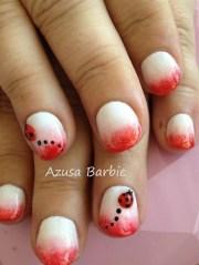 3d ladybug nails - nail art