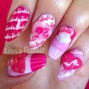 barbie cupcakes nails - nail art
