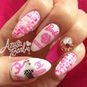 barbie chanel nails - nail art