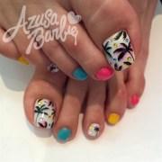 tropical toes - nail art