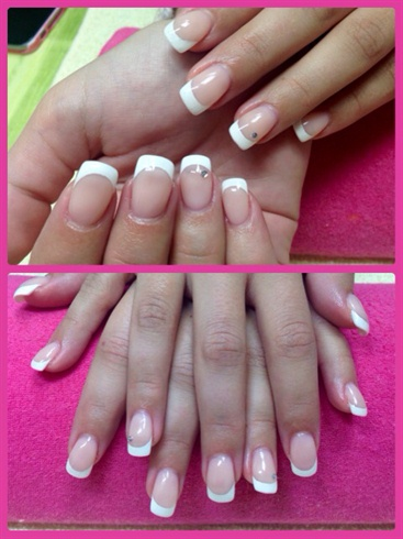 Pink Glitter French Manicure 25 Nail Art Designs