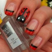 ladybug nails - nail art