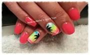 neon beach - nail art