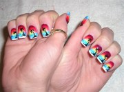sunset airbrush - nail art