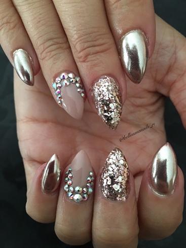 Rose Gold Chrome Nails Nail Art Gallery