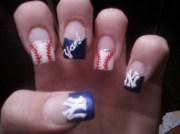 ny yankees baseball - nail art