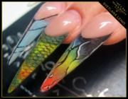 colorful stilettos - nail art