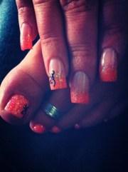 camo & browning nails - nail art