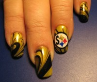 Steelers!! - Nail Art Gallery