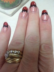 scarecrow french manicure - nail