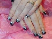 black and silver elegance - nail