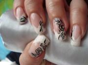 black rose. - nail art