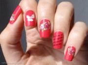 roses and romance - nail art