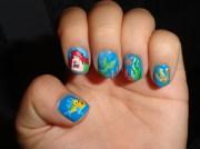 little mermaid nails - nail art
