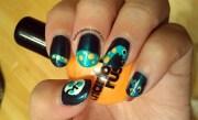 dinosaur nails - nail art