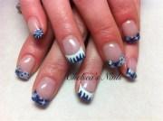 blue christmas - nail