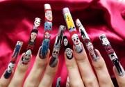horror movie character nail art.full
