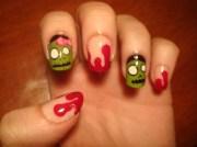 zombies - nail art