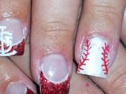 st. louis cardinals - nail art