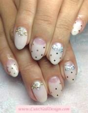 pastel pink nails - nail art
