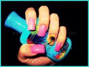 beach ready nails - nail art