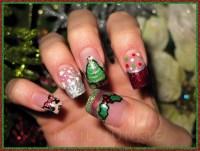Christmas Handpainted Nails - Nail Art Gallery