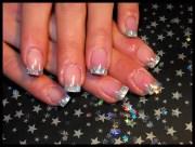 holographic acrylic tips - nail