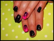 halloween gel manicure - nail art