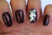 halloween nails ghost - nail