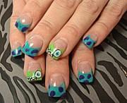 monsters - nail art