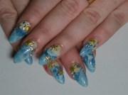 3d beach nails - nail art
