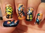 halloween theme nail art