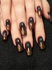 autumn ombre - nail art