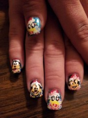 disney christmas - nail art