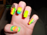 tie dye - nail art