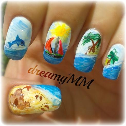 Summer Holiday Nail Design Pictures Nailart