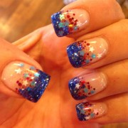 4th of july gel nails - nail art
