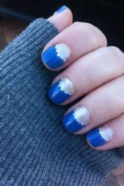 blue moon - nail art
