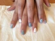grey bridesmaid nails - nail art