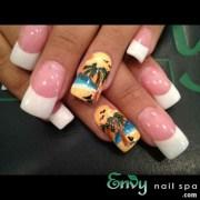 beach view nail art