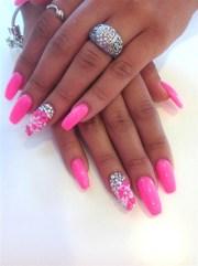 pink gel - nail art