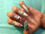 ice cream - nail art