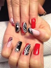 christmas party nails - nail art