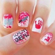scream queens nail art