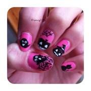 pink halloween - nail art