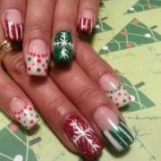 fun christmas nails - nail art