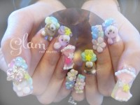Cute 3D nails - Nail Art Gallery